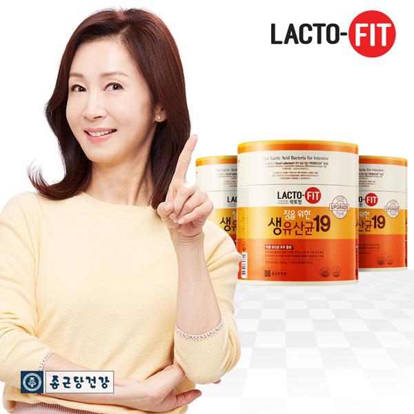 종근당건강 락토핏 장을위한생유산균19 3통 (540포)