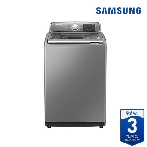 [삼성전자] 전자동 세탁기 17kg (WA17M7750KP) 리얼 메탈 실버