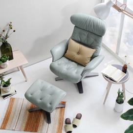 [체리쉬] 네스트 인(Nest in) 2 리클라이너 1인 의자+스툴 세트 (민트)